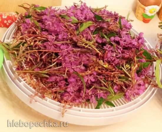 Гранулированный чай из цветочных кистей кипреяГранулированный чай из цветочных кистей кипрея