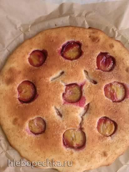 Пирог сметанный с курагой Фруктовый пирог из сметанного теста