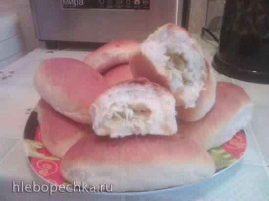 Пирожки со свежей капустой (не тушеной)
