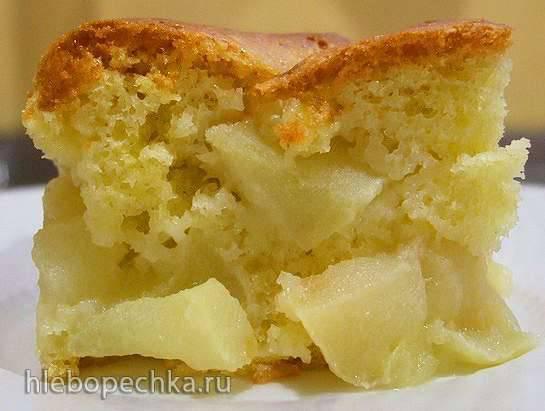 Масляный бисквит с яблоками (вариации шарлотки)