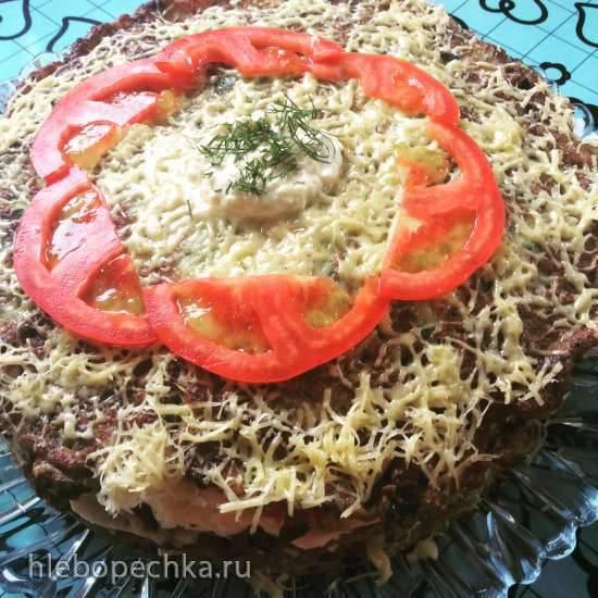 Торт Дачный из сезонных овощей с индейкой