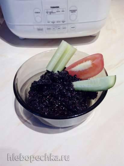 Чёрный рис с семенами льна (мультиварка Toshiba RS-18NMFR)