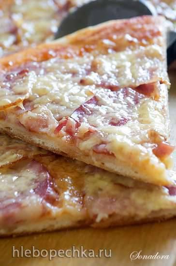 Пицца тонкая дрожжевая на биге