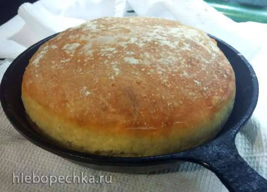 Быстрый пшеничный хлеб без замеса