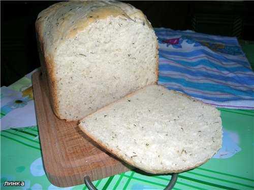 Хлеб с рисовой кашей (овсяной, гороховой) (хлебопечка)