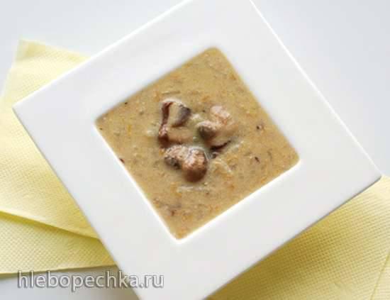 Грибной суп-пюре в «соевой корове» soy milk maker (Midea Mi-5)