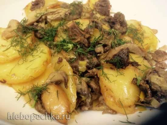 Картошка с грибами и скоблянкой