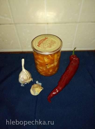 Фасоль консервированная с овощами
