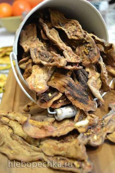 Чипсы из маринованных баклажан