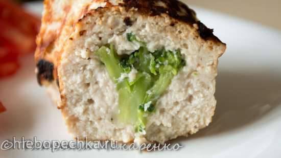 Кекс мясной с брокколи в кекснице GFW-025 Keks Express