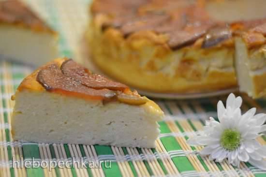 Перевернутый грушево-карамельный творожный торт