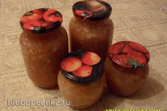 Яблочный конфитюр (быстрое приготовление)
