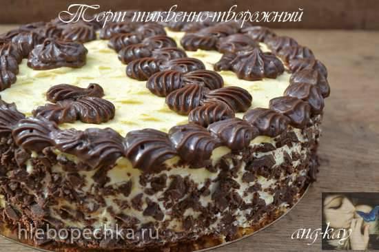 Торт тыквенно-творожный