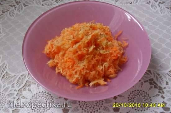 Пикантный салат из брюквы с морковью