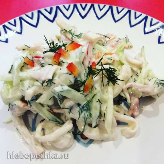 Салат из кальмаров Можайский