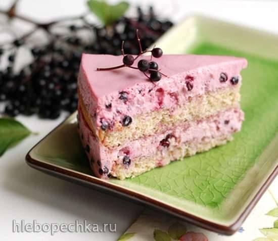 Торт из черной бузины