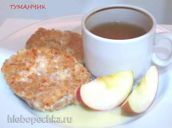 Творожники с пророщенной пшеницей и яблоком