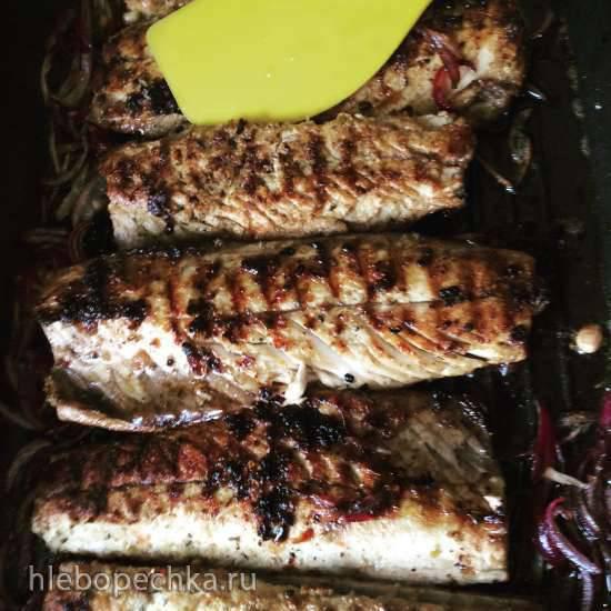 Филе скумбрии на сковороде гриль