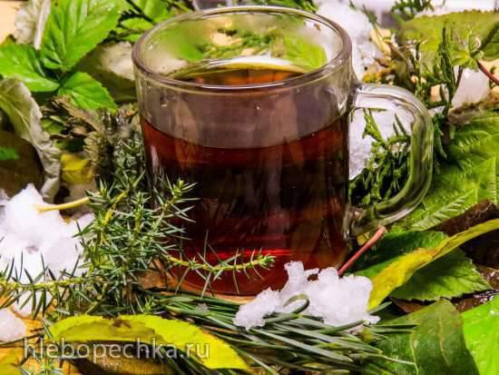 """""""Морозный чай"""" из хвойных и листьев естественной ферментации """"Морозный чай"""" из хвойных и листьев естественной ферментации"""