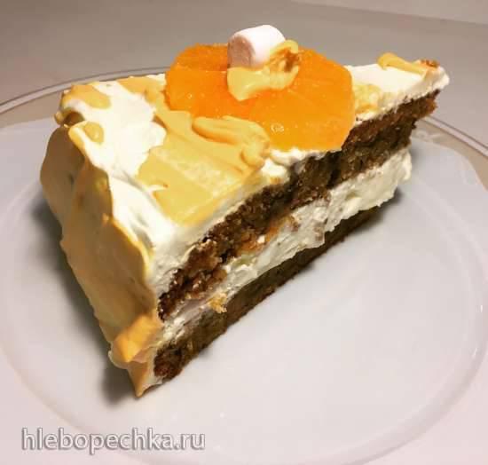 Торт Морковный с грецким орехом и курагой