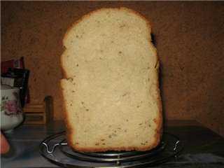 Хлеб творожный с тмином и кориандром (хлебопечка)