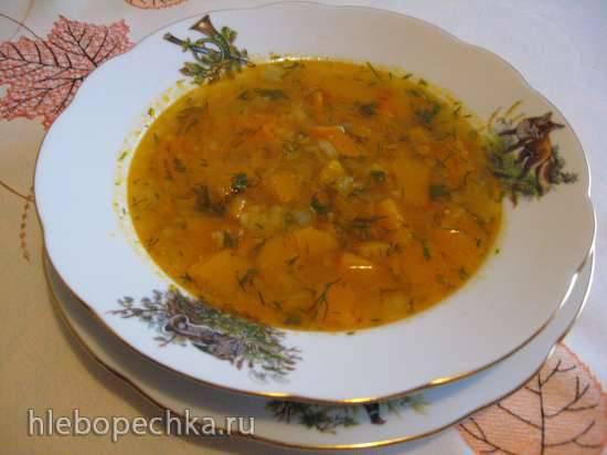 Куриный суп с тыквой, булгуром и лимонным соком (мультиварка Redmond RMC-02, газовая панель)