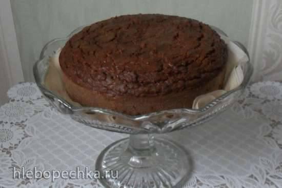 Шоколадно-нутовый торт
