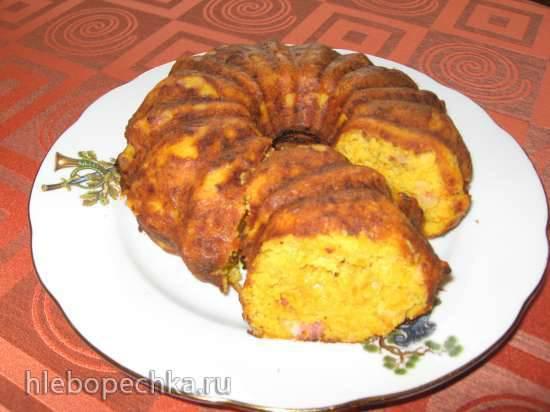 Необычный пирог с тыквой Кукурузный кекс с грудинкой, тыквой и морковью (кексница GFW-025 Keks Express)