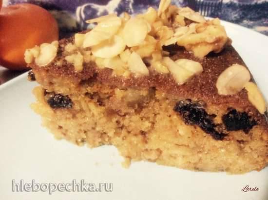 Пирог из вареной сгущенки с орехами Пирог из вареной сгущенки с орехами