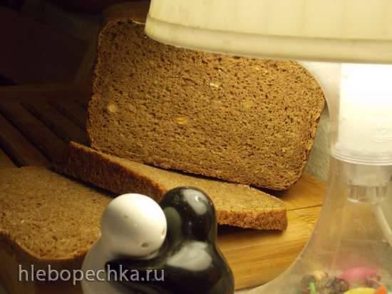 Ржано-пшеничный хлеб с какао и смесью семян