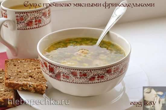 Суп с гречнево-мясными фрикадельками