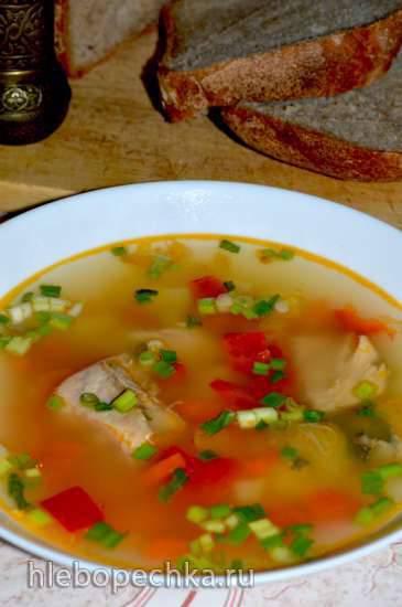 Суп из консервированного лосося Суп из консервированного лосося