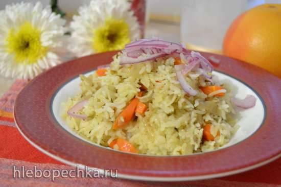 Рис с овощами в пароварке Рис с овощами в пароварке