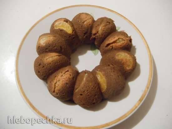 Кекс шоколадно-мандариново-кабачковый низкоуглеводный на псиллиумеКекс шоколадно-мандариново-кабачковый низкоуглеводный на псиллиуме