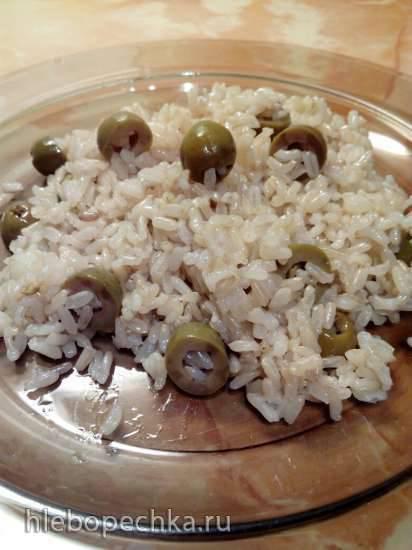 Бурый рис с зелёными оливками (мультиварка Toshiba RS-18NMFR) Бурый рис с зелёными оливками (мультиварка Toshiba RS-18NMFR)