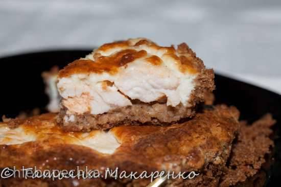 Киш, тарт из хлебцев с курицей Киш, тарт из хлебцев с курицей