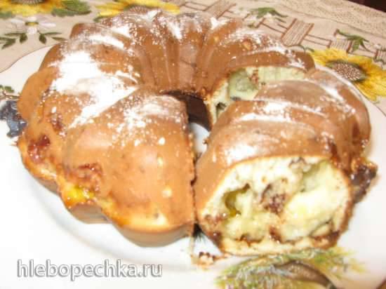 Кекс с зефиром, мармеладом и шоколадом (кексница GFW-025 Keks Express)