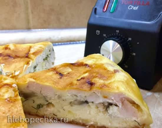 Заливной пирог с куриным филе (Tortilla Chef 118000 PRINCESS)