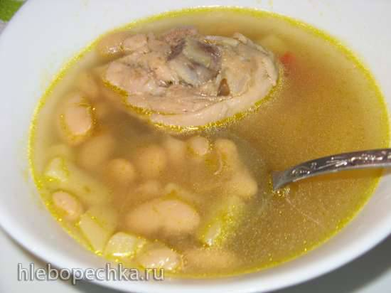 Суп куриный с фасолью в мультиварке Tefal RK-816E32Суп куриный с фасолью в мультиварке Tefal RK-816E32