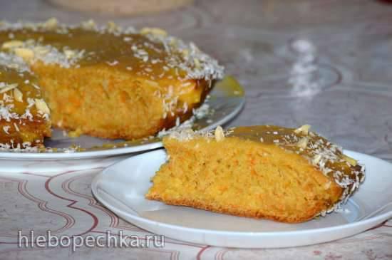Постный морковный торт
