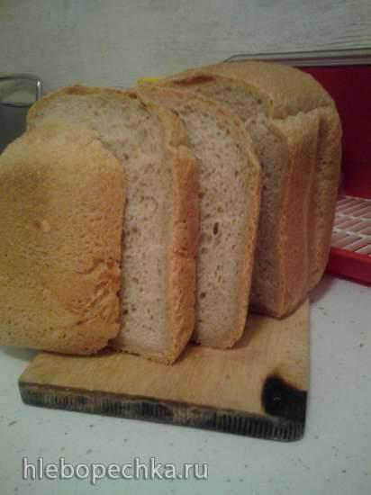 """Хлеб пшенично-ржаной на хмелевой закваске в хлебопечке """"Серенький""""Хлеб пшенично-ржаной на хмелевой закваске в хлебопечке """"Серенький"""""""