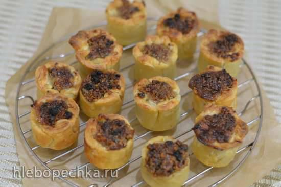 Венгерские тарталетки с изюмом и орехами