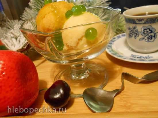 """Мороженое и сорбет из тыквы и хурмы """"Новогоднее оранжевое настроение"""""""