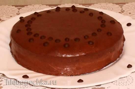 """Шоколадно-нутовый торт """"Ночь перед Рождеством"""", с творожно-апельсиновым кремом и шоколадным муссом Шоколадно-нутовый торт """"Ночь перед Рождеством"""", с творожно-апельсиновым кремом и шоколадным муссом"""