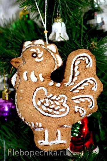 Рождественский пряничный петушок