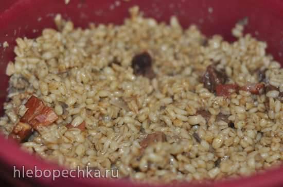 Каша перловая с мясом и грибами в ТапперКуке (скороварке для СВЧ)