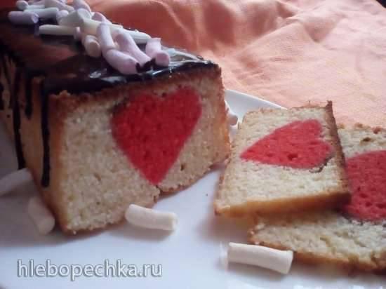 """Йогуртовый кекс """"Сердце"""""""