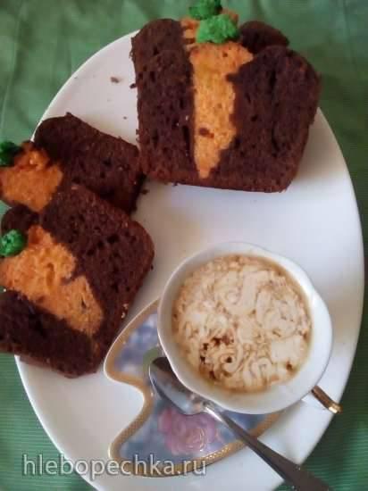 Шоколадный кекс Морковь на грядке