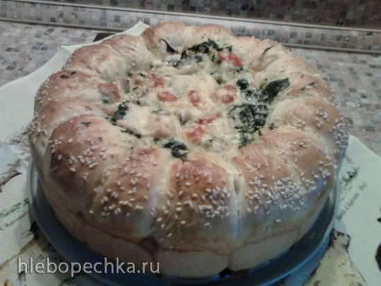 Пирог разборный с курицей и шпинатом