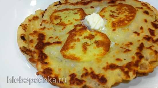 Картофельно-овсяные блины с припеком (тонкие)